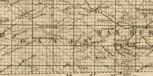 Detail Davis County, Carleton's 1850 Sectional Map of Iowa