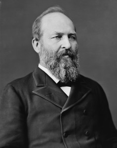 James A. Garfield 20th President 4 March - 19 September 1881