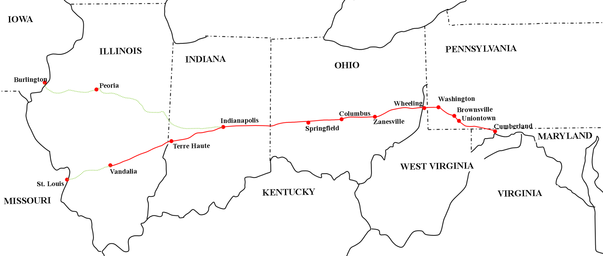 Migration Routes: The National Road | Prairie Roots Research